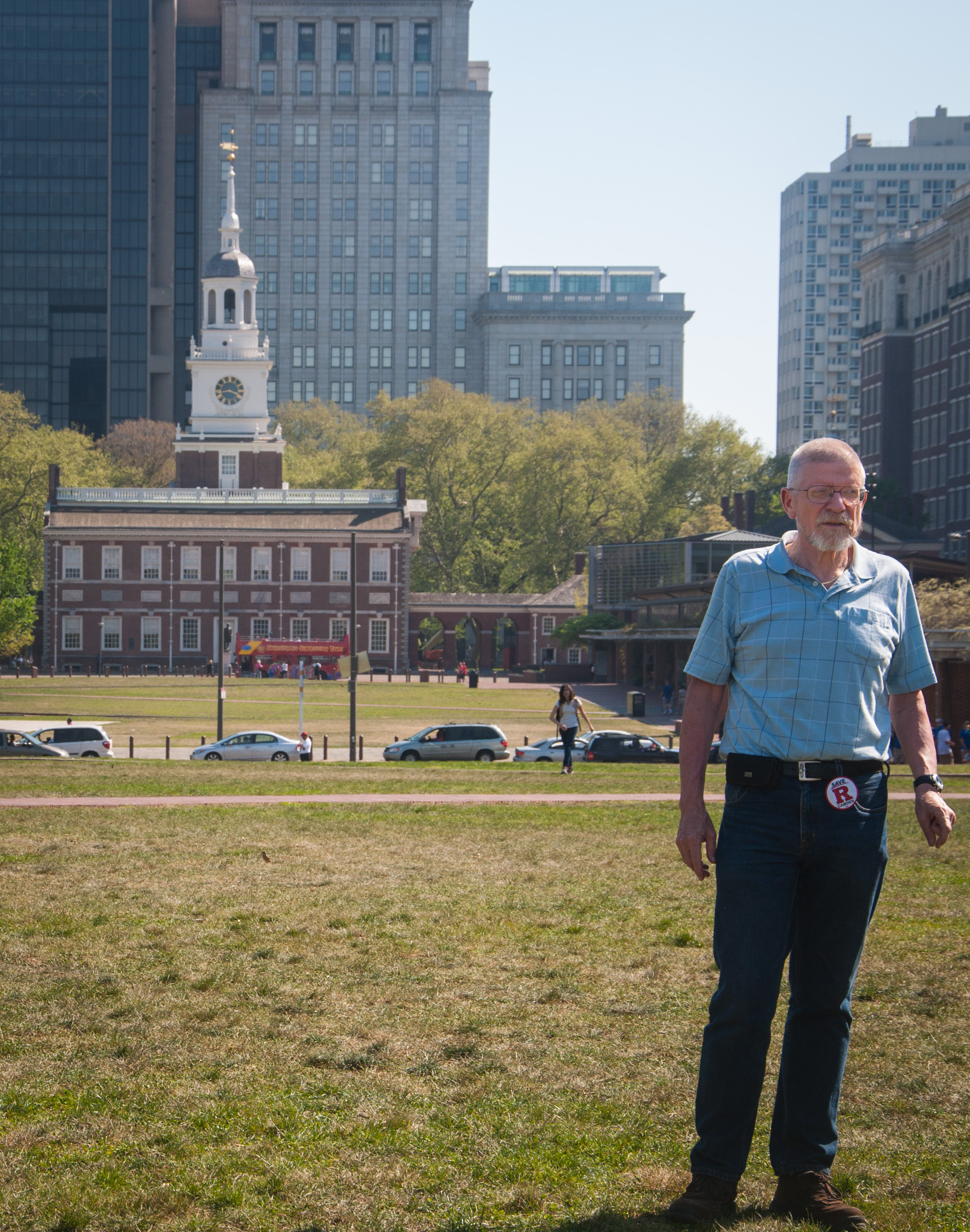 Nick bei Independence Hall