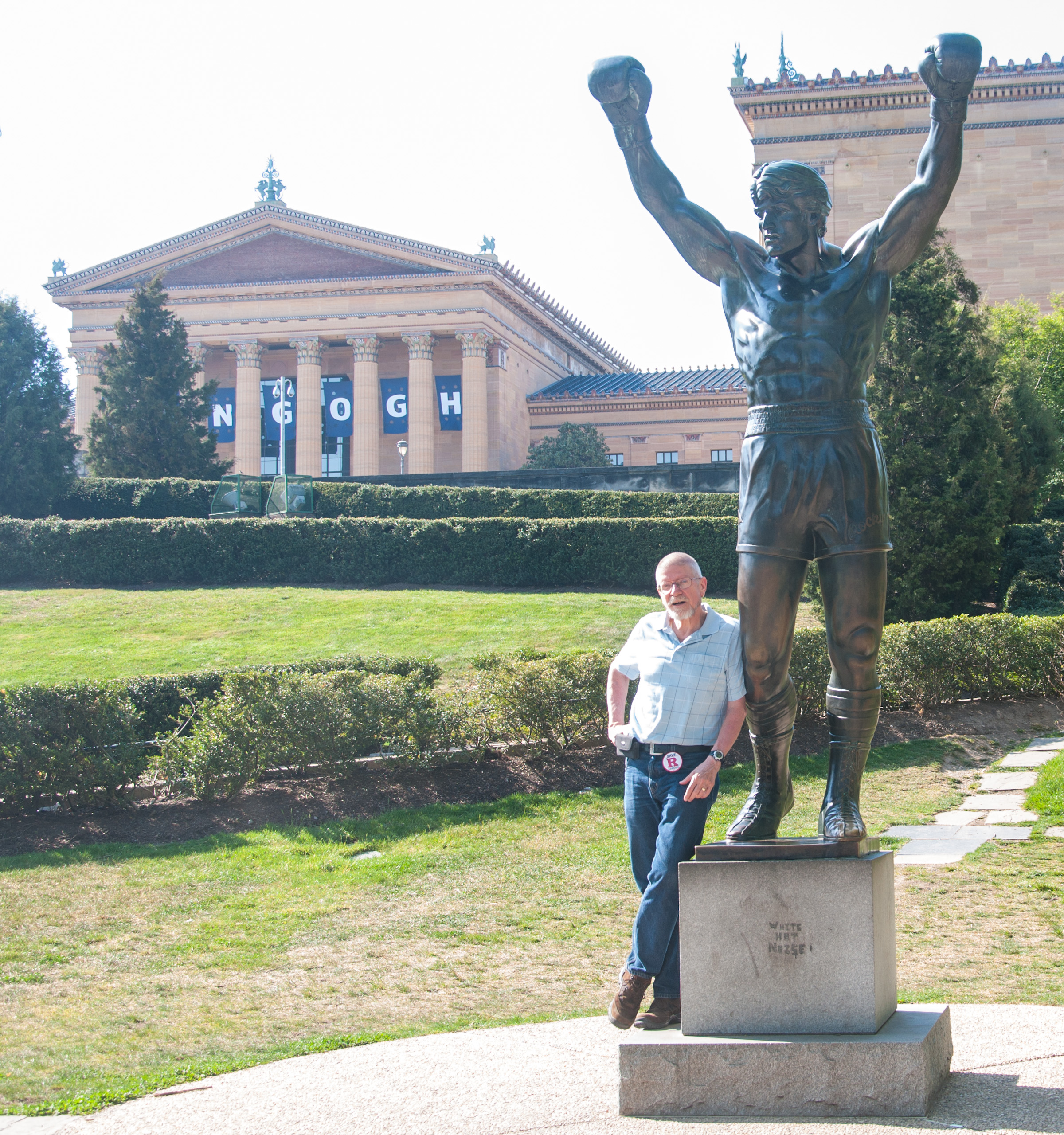 Nick @ Rocky Statue by Art Museum